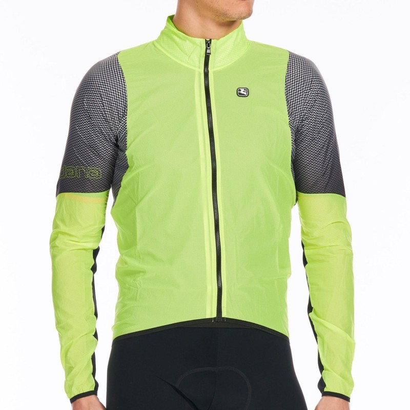 Giordana NX-G Wind Jacket Fluid Yellow/Black - Medium